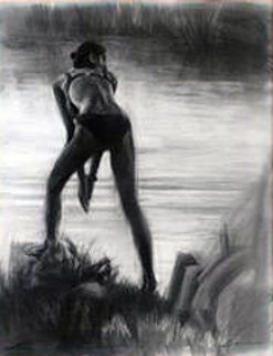 Private Lagoon 28x33 Works on Paper (not prints) - Carrie Graber