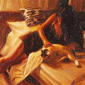 Our Companions 20x17 Original Painting - Carrie Graber