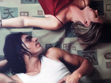 Harmony 1990 31x39 Original Painting by Carrie Graber