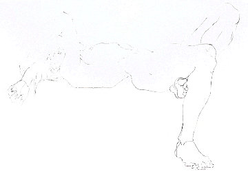 Untitled Reclining Nude 1974 Limited Edition Print - Robert Graham