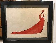 Le Drape Rouge Unique 1950 Works on Paper (not prints) by Rene Gruau - 2