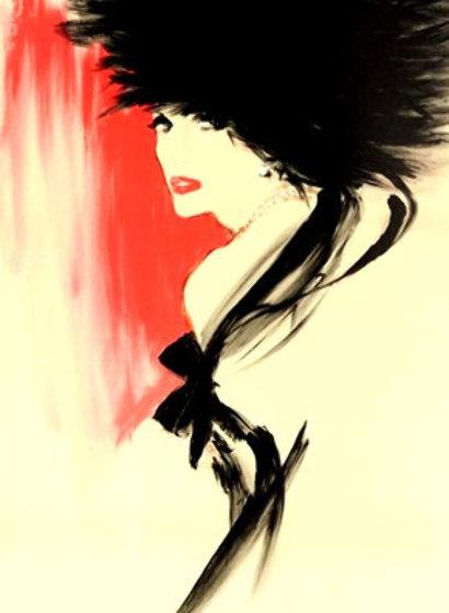 La Belle En Noir AP 1991 Limited Edition Print by Rene Gruau