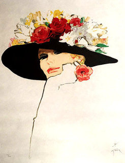 La Rose Rouge 1987 Limited Edition Print - Rene Gruau