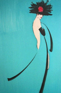 Por Quoi Pas (Turquoise) 1988 Limited Edition Print by Rene Gruau
