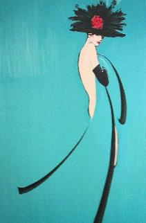 Por Quoi Pas (Turquoise) 1988 Limited Edition Print - Rene Gruau