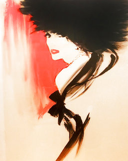 La Belle En Noir 1990 Limited Edition Print - Rene Gruau
