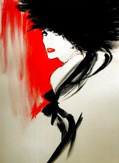La Belle En Noir 1991 Huge Limited Edition Print - Rene Gruau