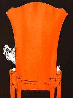 Red Chair Limited Edition Print - Rene Gruau