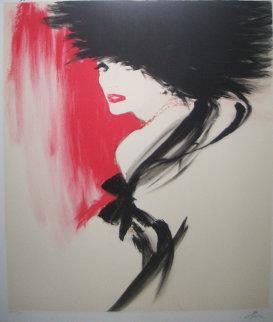 La Belle En Noir Limited Edition Print - Rene Gruau