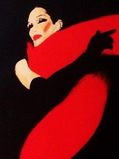 La Femme Et Noir 1990 Limited Edition Print - Rene Gruau