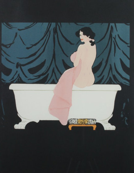 Diane Au Bain (Woman in Tub) Limited Edition Print by Rene Gruau