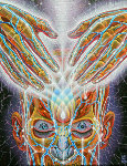 Light Weaver 1998 Original Painting - Alex Grey