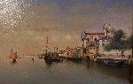 Venice Harbor 2008 17x23 Original Painting - Vasily Gribennikov