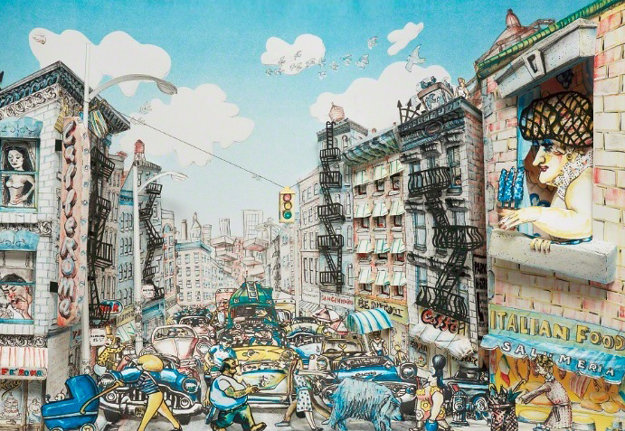 Little Italy   1989 3-D  Limited Edition Print by Red Grooms
