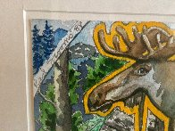 Wyoming Target Watercolor 1988 19x25 Works on Paper (not prints) by Red Grooms - 3