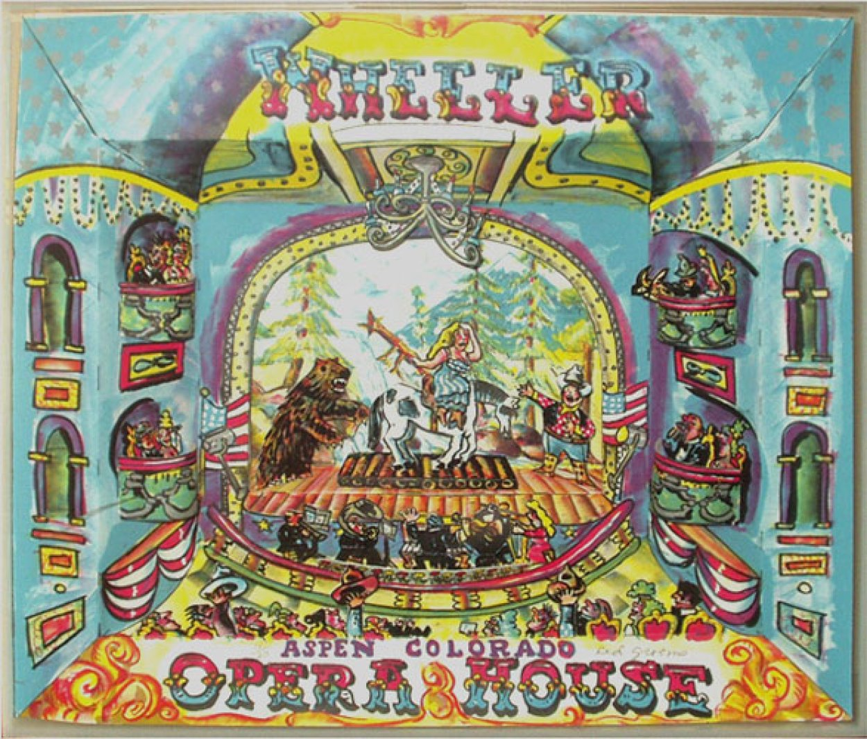 Wheeler Opera House 3-D 1984 Limited Edition Print by Red Grooms