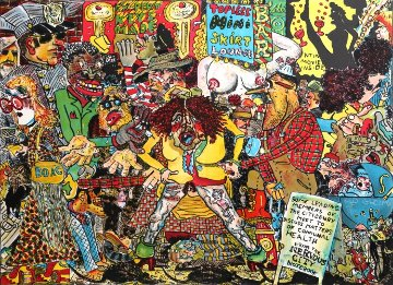 Nervous City Street Scene 1973 Limited Edition Print by Red Grooms