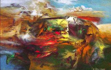 Genesis 2004 36x31 Original Painting - Eduard Grossman