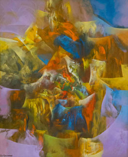 Creation III 2006 47x39 Original Painting - Eduard Grossman