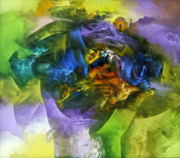 Creation V 2006 35x31 Original Painting by Eduard Grossman