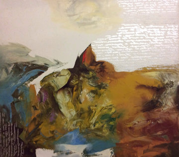 Negev 1997 31x35 Original Painting by Eduard Grossman