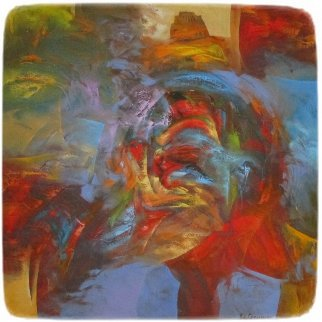 Afternoon Serenity III 39x39 Original Painting - Eduard Grossman