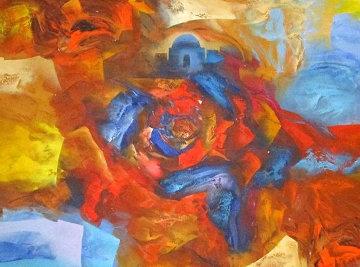 Passionate Evening 39x46 Huge Original Painting - Eduard Grossman