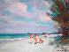 Beach in Naples 1950 12x16 Original Painting by Emile Albert Gruppe - 0
