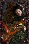 Serene Contemplation 2007 Original Painting - George Tsui