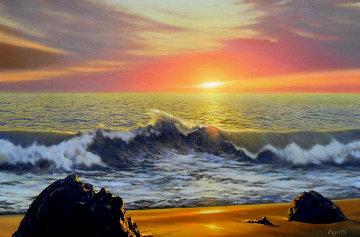 Infinite Hope 1994 31x44 Super Huge Original Painting - Jean Guay
