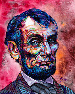 Abe 2019 36x24 Original Painting - James Gucwa