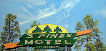 3 Pines Motel 2013 27x51 Original Painting by James Gucwa