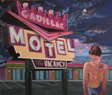 Lost At the Cadillac 2013 45x54 Original Painting - James Gucwa