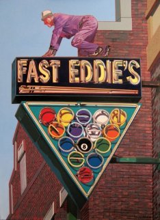 Self As Fast Eddie 42x32 Original Painting - James Gucwa