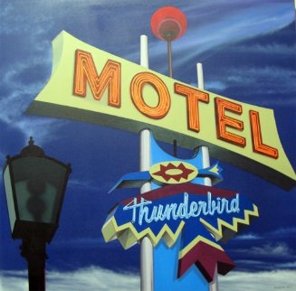 Thunderbird Motel 2013 40x40 Original Painting - James Gucwa