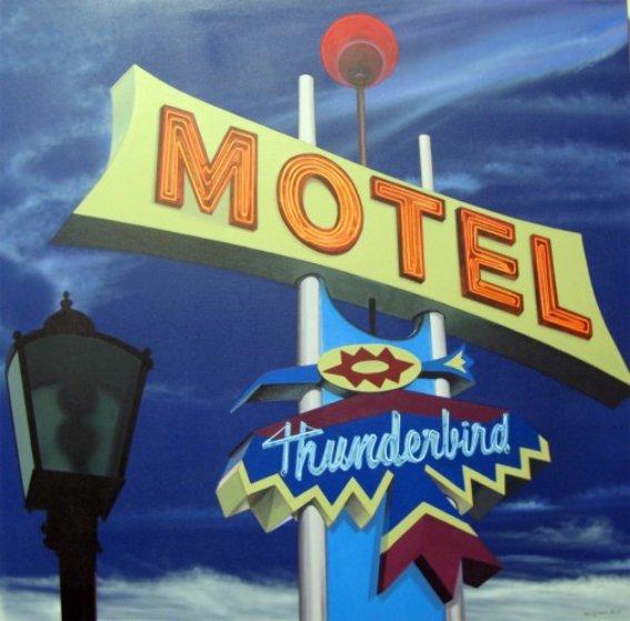 Thunderbird Motel 2013 40x40 Original Painting by James Gucwa