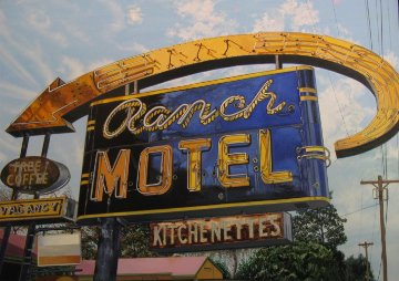Ranch Motel 2013 28x40 Original Painting by James Gucwa