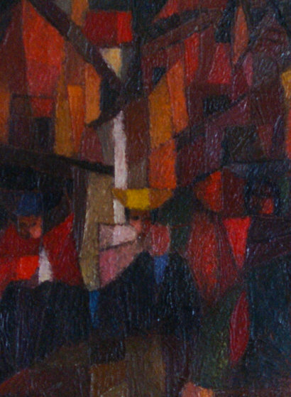 Indiaus-Peru 1974 22x25 Original Painting by Ernesto Gutierrez