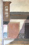 Untitled Painting 1967 17x26 Original Painting - Ernesto Gutierrez