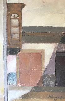 Untitled Painting 1967 17x26 Original Painting by Ernesto Gutierrez