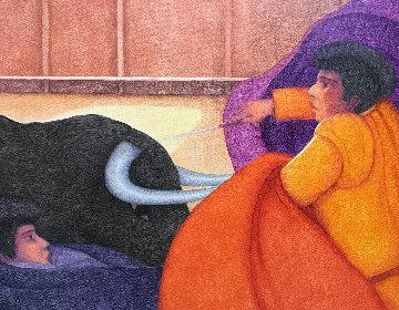 El Toro 2010 39x49 Original Painting by Ernesto Gutierrez