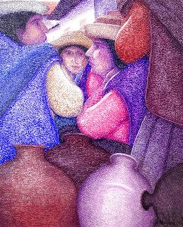 Untitled Painting 30x24 Original Painting - Ernesto Gutierrez