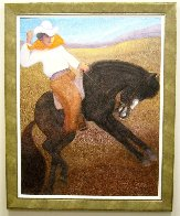 El Caballo (The Cowboy) 2010 56x46 Super Huge Original Painting by Ernesto Gutierrez - 3