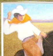 El Caballo (The Cowboy) 2010 56x46 Super Huge Original Painting by Ernesto Gutierrez - 2