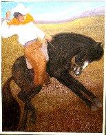 El Caballo (The Cowboy) 2010 56x46 Super Huge Original Painting by Ernesto Gutierrez - 1
