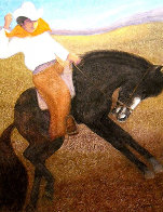 El Caballo (The Cowboy) 2010 56x46 Super Huge Original Painting by Ernesto Gutierrez - 0