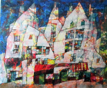 Paris Nights Embellished Limited Edition Print by Harry Guttman