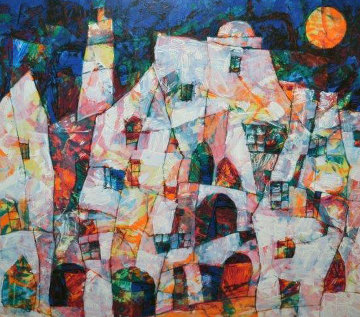 Sunlit Village 2001 Limited Edition Print - Harry Guttman