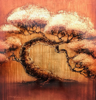 Golden Tree Series 2012 40x40 Original Painting by Patrick Guyton