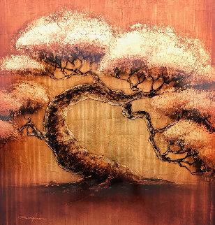 Golden Tree Series 2012 40x40 Huge Original Painting - Patrick Guyton